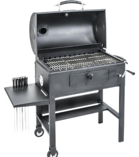 Blackstone 3-in-1 Kabob Charcoal Grill, BBQ, Smoker