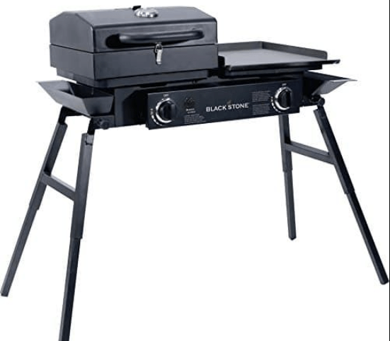 Blackstone Tailgater – Portable Gas Grill and Griddle Combo